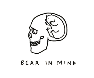 bear, quotes, and skull image
