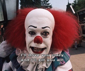 clown, it, and horror image