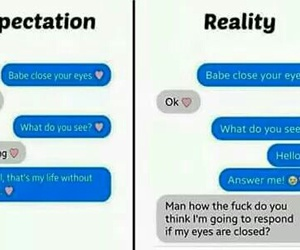 funny, reality, and expectations image