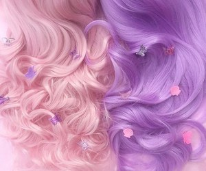 hair, black, and pastel image