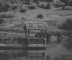 bridge, deck, and mountains image