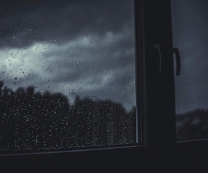 rain, dark, and window image