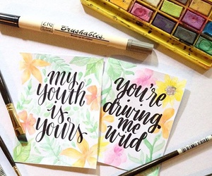 calligraphy, lettering, and troye sivan image