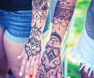 beauty, henna, and tatoos image