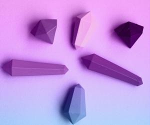 blue, purple, and chalk image