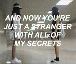 quotes, secret, and strangers image