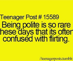 teenager post, flirt, and girl image