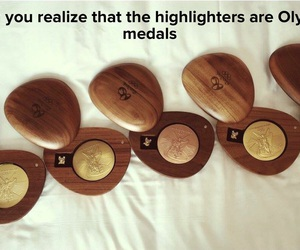 makeup, olympic, and medals image