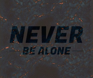 alone and never image