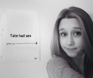 black and white, grey, and ‎taissa farmiga image