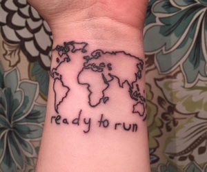 art, Tattoos, and ready to run image