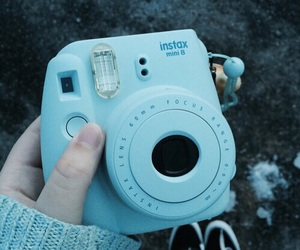 blue, camera, and tumblr image