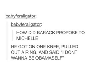 funny, tumblr post, and obama image