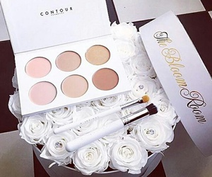 makeup, fashion, and flowers image