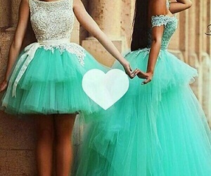 best friends, dress, and Prom image