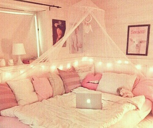 bedroom, inspired, and pink image