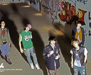 let's fly, b1a4, and 1st mini album image