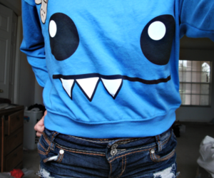 blue, monster, and t-shirt image