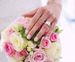 bride, inspiration, and flower bouquet image