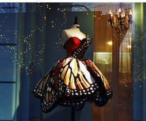 butterfly, dress, and magical image