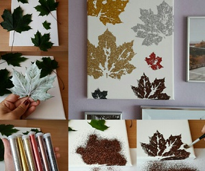 autumn, fall, and canvas image