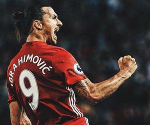 football, manchester united, and ibrahimovic image