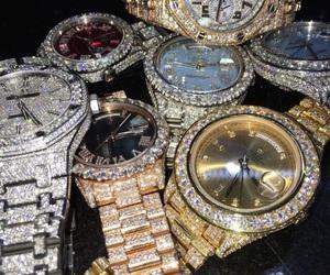 watch, luxury, and diamond image