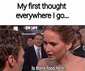 food, funny, and Jennifer Lawrence image