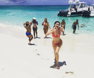 kylie jenner, beach, and summer image