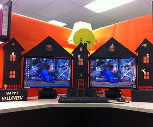 Halloween, workspace, and lifehack image