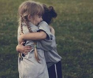 friends, hug, and child image