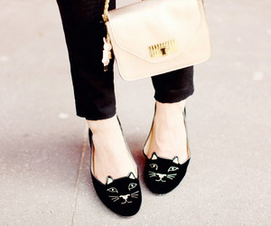 shoes, cat, and fashion image