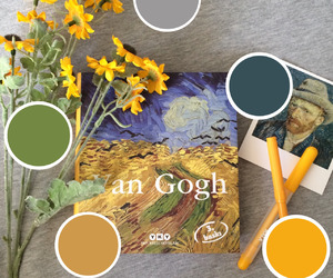 van gogh, art, and flowers image