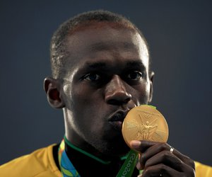 athletics, bolt, and olympic games image