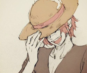 shanks, one piece, and anime image