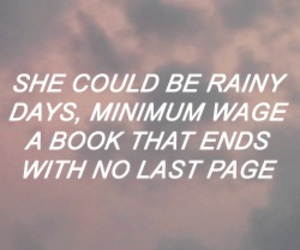 Lyrics, the maine, and whoever she is image