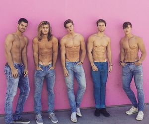 boy, jeans, and men image