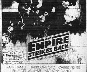 poster, star wars, and the empire strikes back image