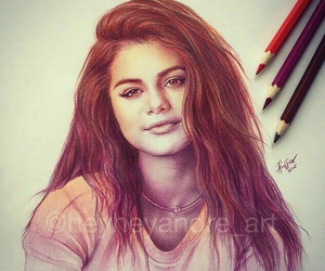 selena gomez, art, and draw image