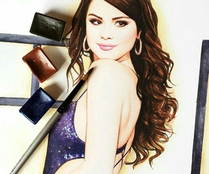 drawing, selena gomez, and selenator image