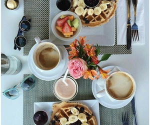 breakfast, fit, and coffee image
