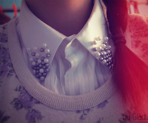collar, fashion, and pearls image