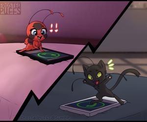 tikki, miraculous ladybug, and kwami image