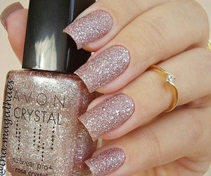 nails, glitter, and girl image