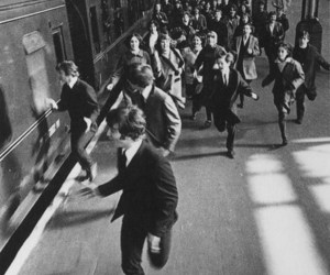 the beatles, black and white, and beatles image
