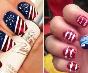 blue, long nails, and red image