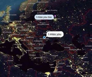 love, distance, and map image