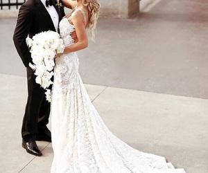 beautiful, bridal, and dresses image