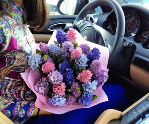 flowers, beautiful, and girl image