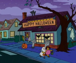 Halloween and simpsons image